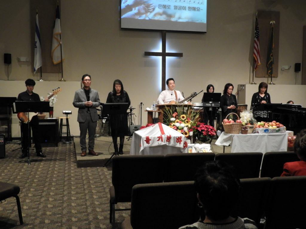 2019년 11월 24일 추수감사주일 및 이선영 성도 세례식 사진