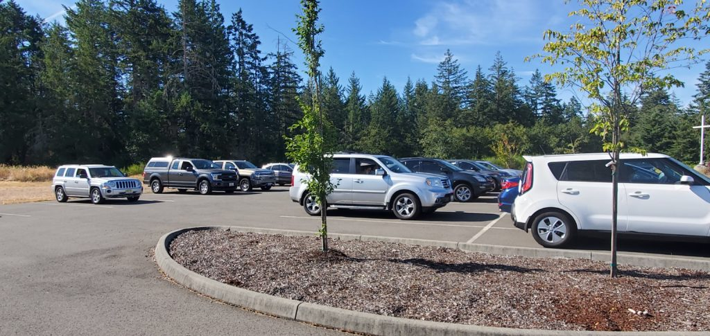 2020년 8월 2일 주일 주차장 예배사진